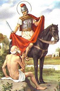 San Martino e il mendicante