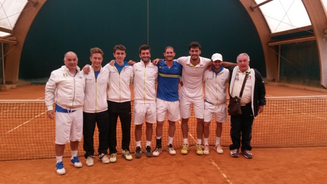 La squadra del Circolo Tennis Lanciano
