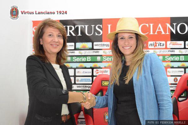 La preside De Berardinis con Valentina Maio. Fonte:virtuslanciano.it - Foto: F. Roselli