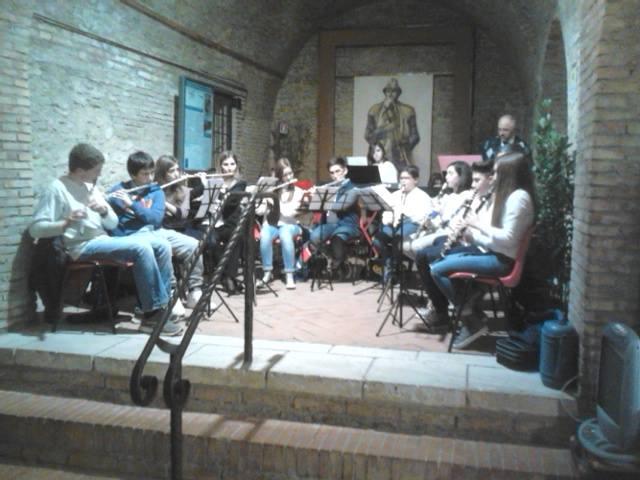 Un'esibizione dell'orchestra nell'Auditorium Diocleziano