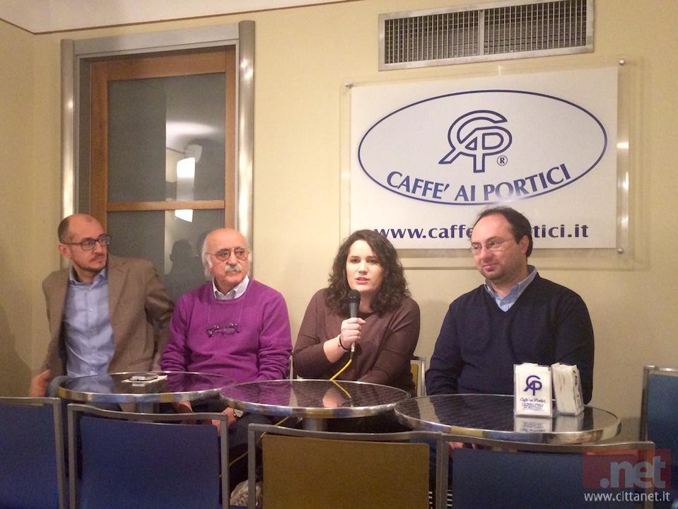 Da sinistra: Marcello D'Ovidio, Antonio Canzano, Francesca Caporale e Piero Cotellessa