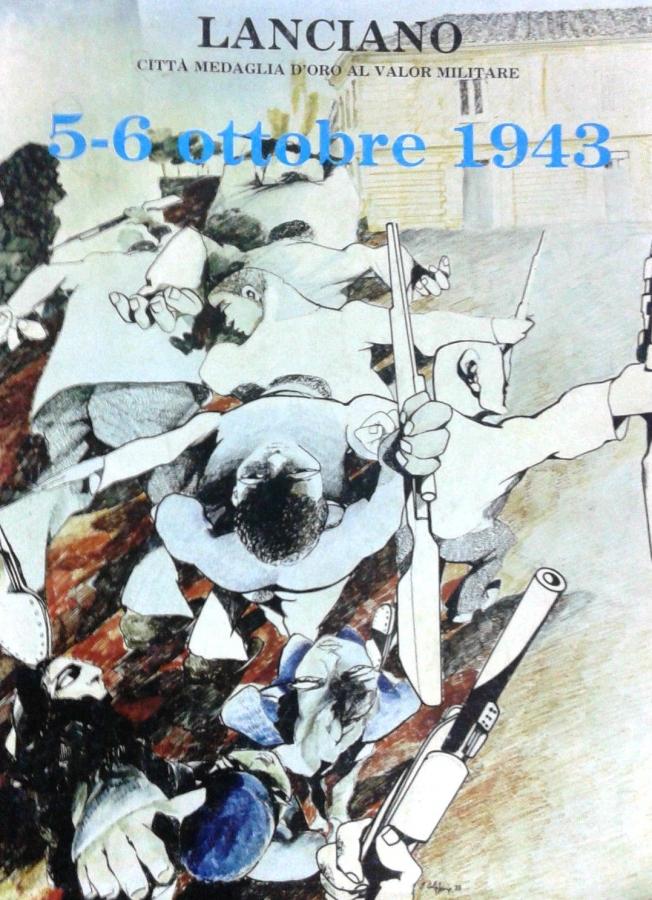 Copertina del prezioso libro Lanciano città medaglia d'oro al valor militare 5-6 ottobre 1943